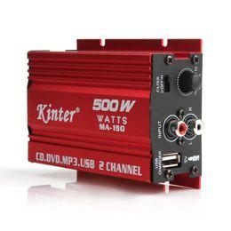 Wholesale Hi Fi Car - New Arrival 500W MA-150 DC9-14V 2-CH Mini Hi-Fi Stereo Audio Amplifier Amp Subwoofer For Car Motorcycle CEC_836