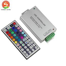 Wholesale ir rgb led strip controller - DC12-24V 24A 288W 44key IR Remote Led RGB Controller for led strip lights led module DHL free shipping