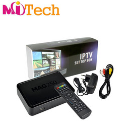 Wholesale Internet Tv Media Player Box - Mag 250 254 IPTV Android Smart TV Box Video Channels Set Top Box STB Google Internet Quad Core Media Player VS Mag254