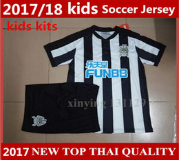 Wholesale White Soccer Shirt Kids - top quality Newcastle jersey 17 18 Newcastle United kids soccer jerseys kit 2017 2018 home GAYLE MITROVIC Perez RITCHIE child football shirt