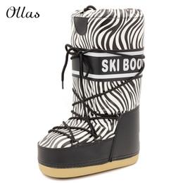 Wholesale Zebra Plush - Wholesale-Zebra boots winter shoes woman snow boots platform women winter boots brand high boots free shipping