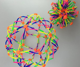 Wholesale Flower Lie - 2016 new New expanding sphere mini ball kids toy rainbow Colorful flower magic ball lay in children's toys 14cm*28cm 20pcs lot