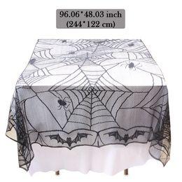 toalha de crochet quadrada Desconto Toalha de mesa tampa de mesa retangular aranha decoração festa kit para decoração de festa de halloween projeto de renda de fibra de poliéster
