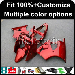 Wholesale Kawasaki Ninja Body - 23colors+8Gifts Injection mold red Body motorcycle cowl for Kawasaki ZX-6R 2000-2002 00 01 02 ZX6R 2000 2001 2002 ABS Plastic Fairing