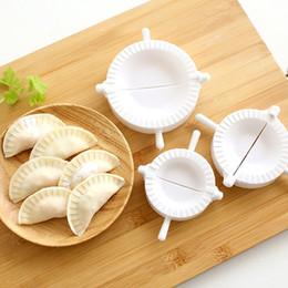 Wholesale Dough Dumpling Press - Wholesale- 3pcs Press Ravioli Dough Pastry Pie Dumpling Maker Gyoza Mold Tool 3 Size Easy Eco Friendly Dumpling Mould