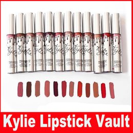 Wholesale Cheap Wholesale Gifts Items - Cheap Price Kylie Jenner Limited Holiday Christmas Edition Lipstick Vault 12 Matte Lipstick new year gift fashion item
