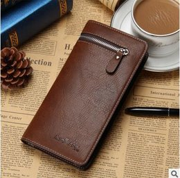 Wholesale Business Cards Free Simple - Simple and casual men's Long Wallet Zipper retro male Wallet high quality wallets free shipping hot sale