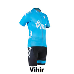 Wholesale Cycling Shorts Cushion - Vihir Summer Style Lightweight Quick Dry Breatjhable Cycling Jersey and Spongy Cushion with No Bib Bike Shorts Set for Men