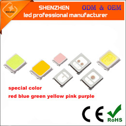 Wholesale Pink Diode - red blue green yellow pink purple SMD2835 LED Chip 0.2W 60mA SMT Surface Mount LED Chip DIY Light Emitting Diode