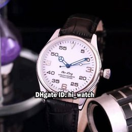 Wholesale Mens Sub - Super Clone Brand Luxury Air King White Dial Blue Pointer Automatic Mens Watch Asian 2813 Sapphire Glass Leather Strap Watches Sub Watch