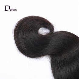 Wholesale Weave Lengths - Derun Hair Super Sale!!!Length 12-30inch Unprocessed Brazilian Human Hair Weft Extension Weave Body Wave Natural Color Free Shipping