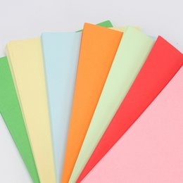 Wholesale Envelopes For Greeting Cards - colorful Printing Paper A4 210*297mm Solid color copy paper 70g multiple Colour Fax Paper for Printer Computer Office Supplies