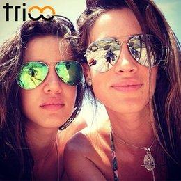 Wholesale Revo Sunglasses Women - Wholesale-TRIOO Revo Colorful Polarized Sunglasses Women Driving Mirror Lunette Female Sun Glasses For Women 2016 Brand Design Oculos