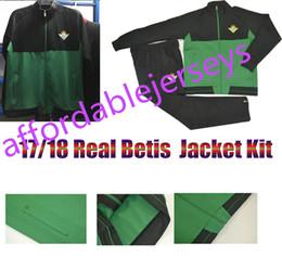 Wholesale Full Feet - Top Thai Quality 2017 2018 Real betis Soccer Jacket Kit Joaquin Sanabria Soccer Jacket Kits 2017 2018 Real betis Foot survetement