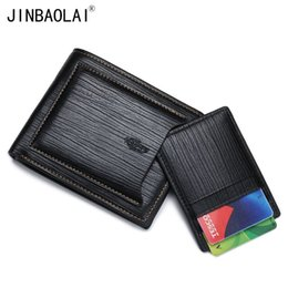 Wholesale Wholesale Cowhide Wallets - Men Wallets Famous Brand Purses Cowhide Purses Billfold Men Wallets with Front Pocket carteira ZCA609