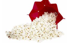 Cubo de palomitas de maíz de silicona Popcorn maker contenedor de almacenamiento Plegable de microondas pop corn box cubo de arroz inflado bowl de comida Accesorios de cocina desde fabricantes