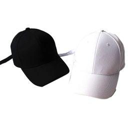 Wholesale wholesale strap hat - Wholesale- CharmDemon New Arrival Baseball Cap Extra Long Back Strap Snapback Hat Ball Cap Black Street st16