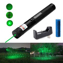 Wholesale Laser Green Pointer Battery - 10Mile Burning Green Laser Pen Pointer 5mw 532nm Cat Toy Military Powerful Laser Pen Adjust Focus+18650 Battery+ Charger