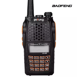 Wholesale Station Dual Band - Wholesale- Baofeng UV-6R Walkie Talkie Two Way Radio Dual Band Vhf Uhf baofeng For CB Radio Station Professional Dual Frequency Wirelesss
