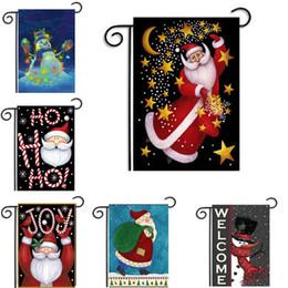 ornements de noël uniques Promotion Drapeaux de jardin de Noël Père Noël Theme Home Garden Cour Hanging Flag Xmas Décoration bannière Ornement Accessoires Livraison gratuite