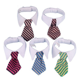 Wholesale Halloween Accesories - High Quality Puppy Necktie Collar Ties Gentleman Puppy Striped Adjustable Tie Necktie Collar Clothes for Dog Cat Pet Accesories