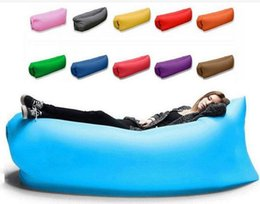 Wholesale Inflatable Sofa Furniture - Lounge Sleep Bag Lazy Inflatable Beanbag Sofa Chair, Living Room Bean Bag Cushion, Outdoor Self Inflated Beanbag Furniture Camp Furniture