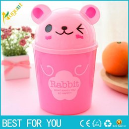 Wholesale Table Covers Sale - Hot sale 2017 Cute Mini Small Waste Bin Desktop Garbage Basket Table Home Office Trash Can Storage Box