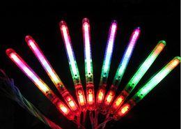 Wholesale Glow Sticks Rave Wholesale - LED Flashing Night Light Multicolor Light-Up Blinking Rave Sticks Wand Glow Sticks Kids Toys For Concert Party XMAS Gift Birthday