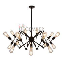 Vintage LED Pendant Lights 8 12 18 Lumière Plafond Réglable En Métal Lampes Lustre Industriel Pendant Pendant AC 100-240V ? partir de fabricateur