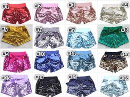 Wholesale Dance Kids - Baby Sequin Shorts Summer Pants Casual Fashion Infant Glitter Bling Dance Boutique Bowknot Princess Shorts Kids Boys Girls Clothes