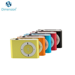 Wholesale Card Recorder Gift - Wholesale- Hot Sell Gift Sport Mini PodX lecteur mp3 Player Portable Music Player Support 32G TF Card Slot With Retail box pk ruizu x02