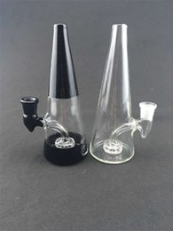 Wholesale Bowl Prices - New Style Factory Price Heady Rig Bongs Smoking Glass Pipes Colorful Glass BongBig Beaker Oil Rig 14mm Glass Bowl Black