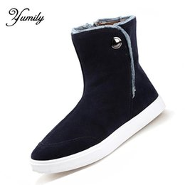 Wholesale Lightweight Ankle Boots - Wholesale-Men Boots Winter Snow Shoes Lightweight Botas Plush Fashion Boot 2016 Hot sales New Cotton Shoe For Men Free shipping