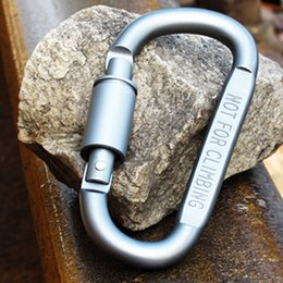 Wholesale Snap Lock Hooks - Durable D Shaped Buckle Spring Snap Hook Carabiner Clasp Wire Rope Clip for Outdoor Travel Camping