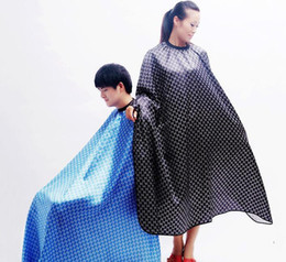 Capes de coiffeur en Ligne-Livraison gratuite Hair Cut coupe Salon Styliste Cape Nylon Barber tissu grand cape de cheveux