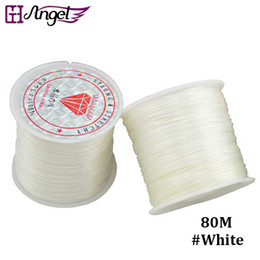 Wholesale Black Mix Wig - GH Angel Jewelry string cord 80M Nylon Cord Elastic Beads Cord Stretchy Thread String For DIY Jewelry Making Beading Wire Ropes