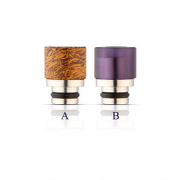 Wholesale Polished Amethyst - Jade SS Drip Tip Amethyst with Stainless Steel Wide Bore Drip Tips Hand-polished Mouthpiece Fit 510 Atomizer Free Ship