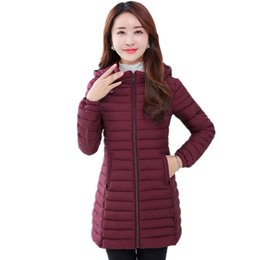 Wholesale Thin Down Jacket Women Green - 2017 Women's Winter Down Jackets Middle Aged Female Long Parka Mother Thin Autumn Winter Coats Cotton Padded Plus Size 6XL