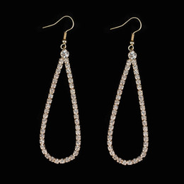 Wholesale High Quality Fashion Jewellery - Fashion Graceful Women Jewellery Full Crystal Filled Long Drop Earrings For Women High quality gift party #E175
