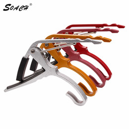 Wholesale Guitar Capo Trigger - Wholesale- 2017 new arrival Folk Acoustic Electric Tune Quick Change Trigger Guitar Capo Key Clamp colors capo
