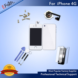 Wholesale display 4g - For White iPhone 4G Full Complete LCD Screen Front Display Digitizer Glass Screen Assembly With Accessories & Free ship