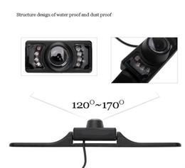 2019 câmera vermelha mais barata 50 pcs À Prova D 'Água Longa Placa de Licença Quadro Cor CMOS Câmera de Visão Traseira Do Carro Para câmera de Estacionamento Reversa Com 7 LED IR Night Vison