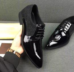 Wholesale Black Band For Wedding Dress - 2017 Fashion Designer brand Dress shoes Oxfords shoes for Mens Custom Handmade Shoes Genuine Leather all series black 859yh