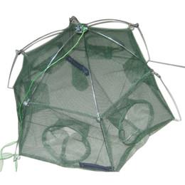 Wholesale Nets Shrimp - Wholesale- Fishing net cage spare plaice fish lobster shrimp basket 6 holes Mesh size: 3 mm
