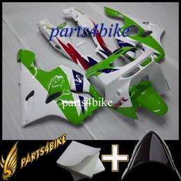 Wholesale Kawasaki Zx6r 97 Green Fairings - Aftermarket Plastic ABS Fairing for Kawasaki ZX6R 94 97 ZX-6R 1994-1997 94 95 96 97 green white Motorcycle Body Kit
