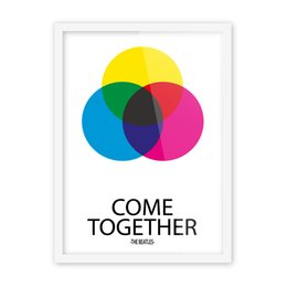 Wholesale Beatles Posters - Free shipping novelty gift The Beatles Come Together words colorful dots pattern home decorative hanging poster photo picture