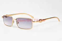 Wholesale Plain Eye Glasses For Men - Fashion Brand Sunglasses For Women Mens Full Rim Leopard Gold Eyeglass Frame Fashion Plain Glasses Metal Buffalo Glasses lunette de soleil