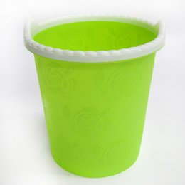 Wholesale Wholesale Candy Bins - 2017 new Candy Color Trash can creative large office without cover plastic desktop kitchen trash bin Wastebasket