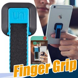 Wholesale Grip Mobile - 2017 New Design Ungrip for Phone Universal Mobile Phone Ring Lazy Stent Cell Phone Buckle Ring Holder Soft Finger Grip