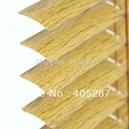 Wholesale Wood Blinds Horizontal - Wholesale-25mm wood grain Chain Control system Aluminum Venetian Blinds custom made blinds